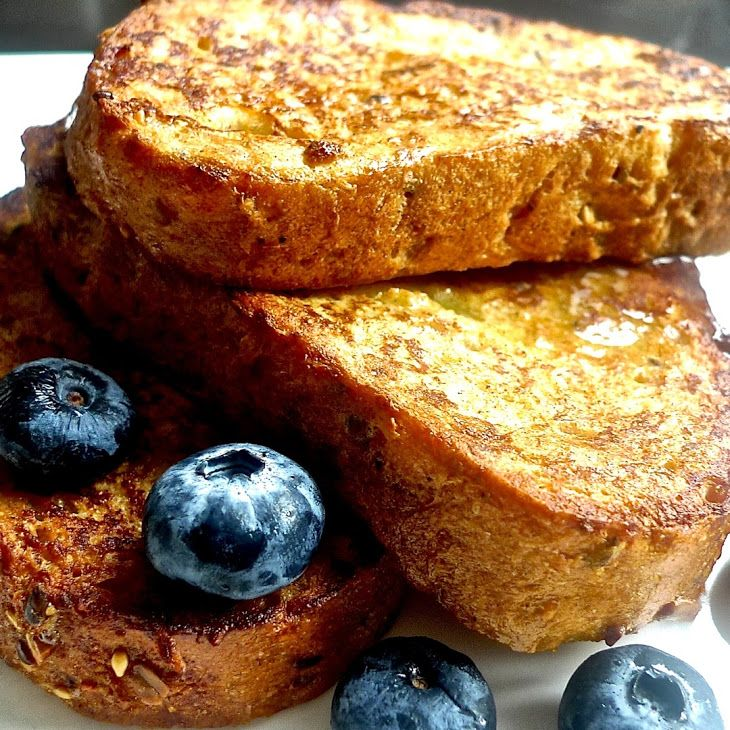 French Toast Restaurant Style Recipe Breakfast and Brunch with french bread, eggs, milk, brown sugar, ground cinnamon, vanilla extract, salt, butter