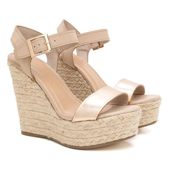 Endless Summer Espadrille Wedges ❤ liked on Polyvore featuring shoes, sandals, espadrille wedge sandals, summer footwear, summer espadrilles, wedge heel shoes and wedge sandals