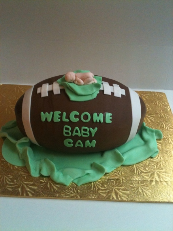 Football Baby Shower CakeFootball Cakes, Baby Shower Cakes, Baby Boy Shower, Football Baby Shower Cake, Red Velvet, Baby Boys, Football Season, Boys Shower, Cream Cheeses