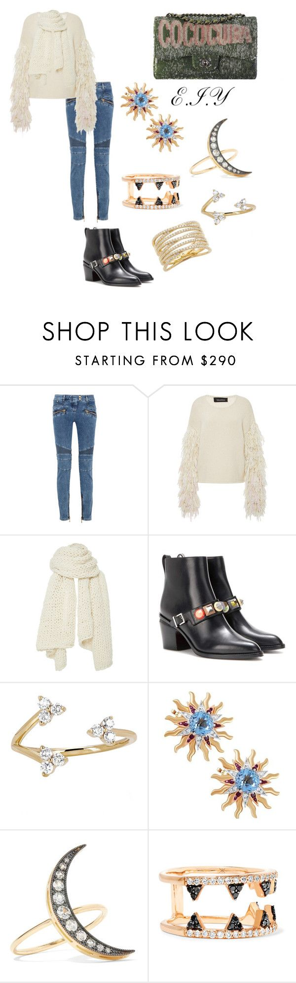 """Untitled #393"" by valentinazsecret21 ❤ liked on Polyvore featuring Chanel, Balmain, Tabula Rasa, I Love Mr. Mittens, Fendi, EF Collection, Cartier, Andrea Fohrman, Khai Khai and Bony Levy"