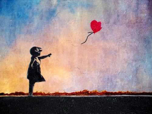 Girl with Red Balloon. #myfavorite #beautiful