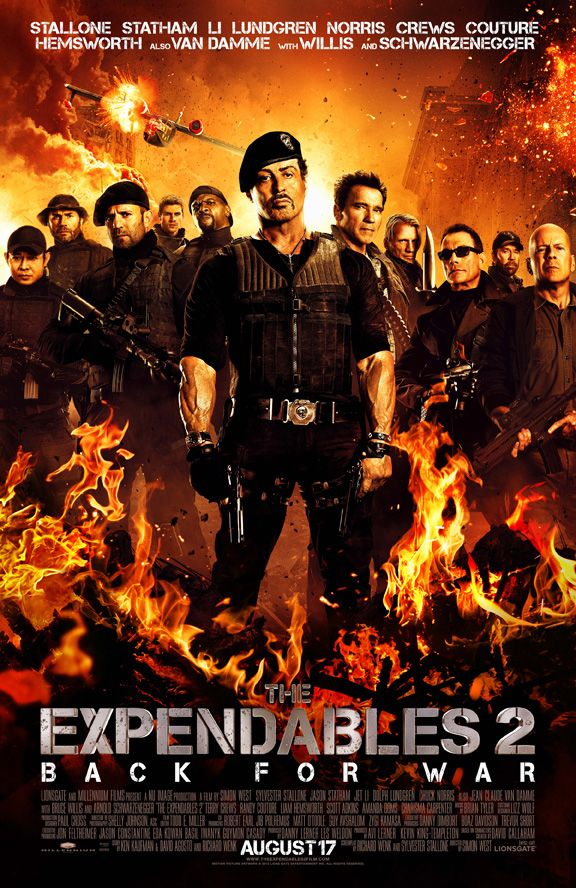 """Courtesy of HollywoodChicago.com, win 5 free DVDs to """"The Expendables"""" in support of Sylvester Stallone's """"The Expendables 2,"""" which hits theatres on Aug. 17, 2012! Win here: http://ptab.it/5sUc: Film, Movie Posters, Sylvester Stallone, Favorite Movies, 2012, The Expendables"""