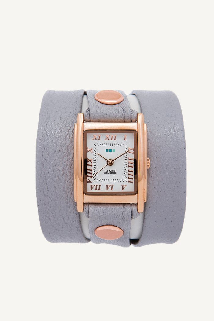 La Mer Collections Simple Wrap Watch in Cloud Grey
