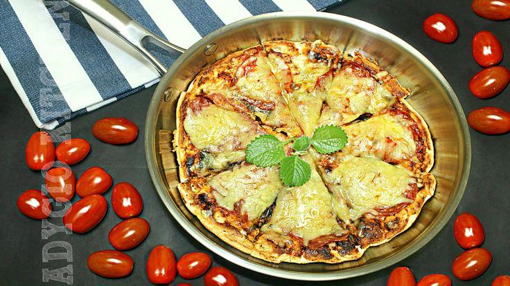 Pizza la tigaie cu salam si cascaval | Adygio Kitchen