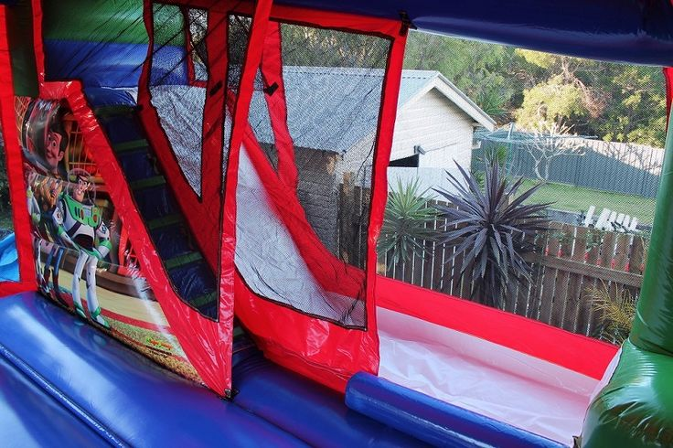 the slide, which can be turned into a wet slide for those hot summer days
