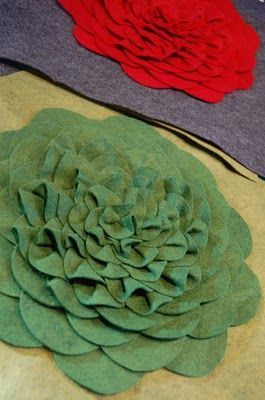 felt flower pillows