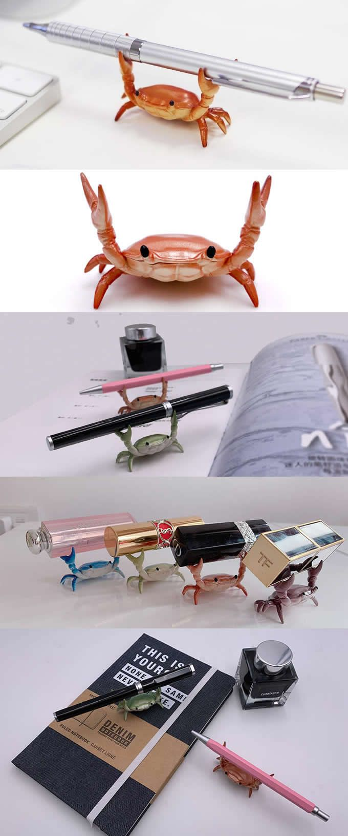 Crab Single Pen Pencil Stand Holder Desk Organizer  Office