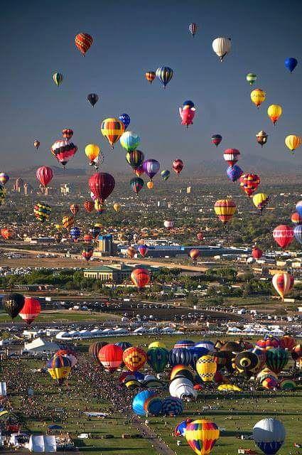 Albuquerque Balloon Fest held in October Albuquerque New Mexico.