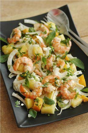 Salade fenouil, ananas, mangue, menthe, coriandre_1