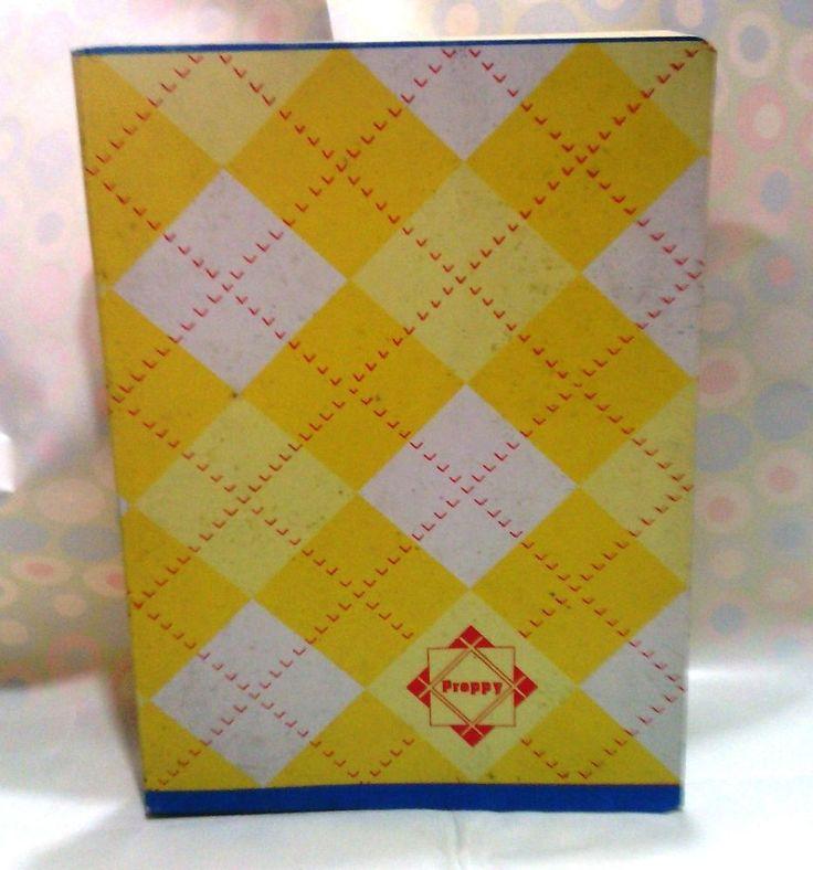 S 80 PRETTY GIALLO quaderno piccolo vintage moda paninari