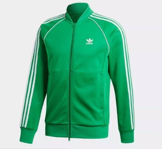 Adidas Originals Superstar Men's Track Jacket GreenWhite XL