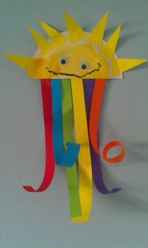 Rainbow Sunshine Craft for may..... Henry and kayci, paper plate craft, toddler craft, crafts