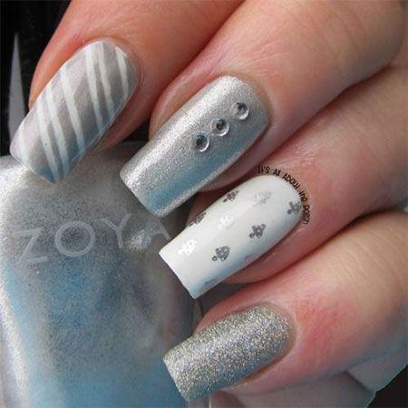 20+ Easy & Simple Christmas Nail Art Designs, Ideas & Stickers 2014   Xmas Nails