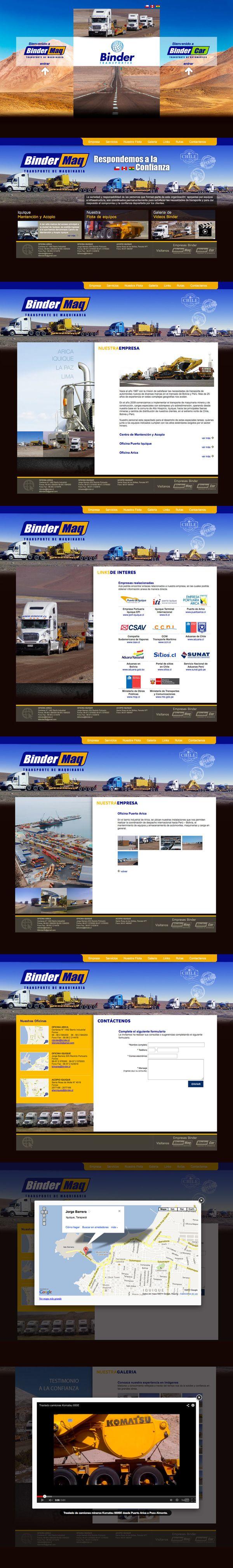 Transportes Binder by Walter Rojas Gacitúa, via Behance