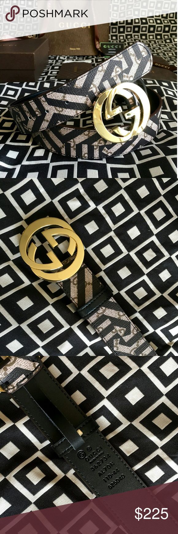 """Gucci GG Caleido Belt!!! Gucci GG Caleido Belt With Gold G Buckle!!!  Brand New!!!  Size Available - 32"""", 34"""", 38"""", 40"""", 42"""", 44""""!!!  Includes Gift Box, Dust Bag, Authenticity Card, Ribbon, Etc!!!  Great Gift Idea!!!  Last Available!!!  Check My Listings For Other Great Items!!!             Ignore: Gucci gg monogram casual dress belts men's women's guccissma leather monogram web tiger bee embossed panther wool cable knit blooms supreme print angry cat ufo dragon studded snake double g Gucci…"""