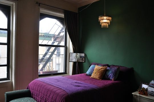 green gothic bedroom