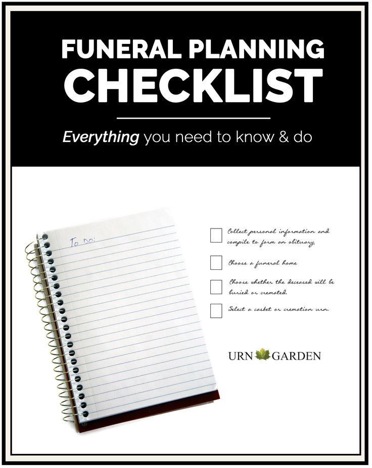 Best 25 Funeral planning ideas – Funeral Checklist Template