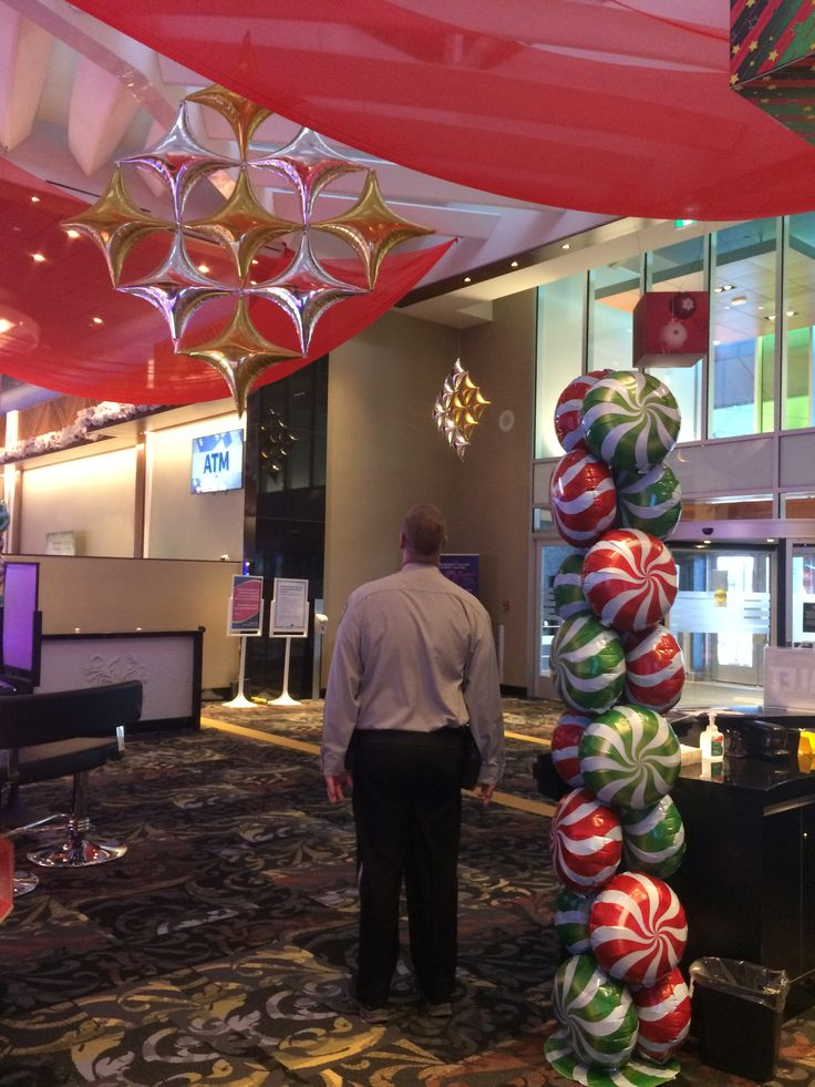 Site decor - Holiday balloons and swag