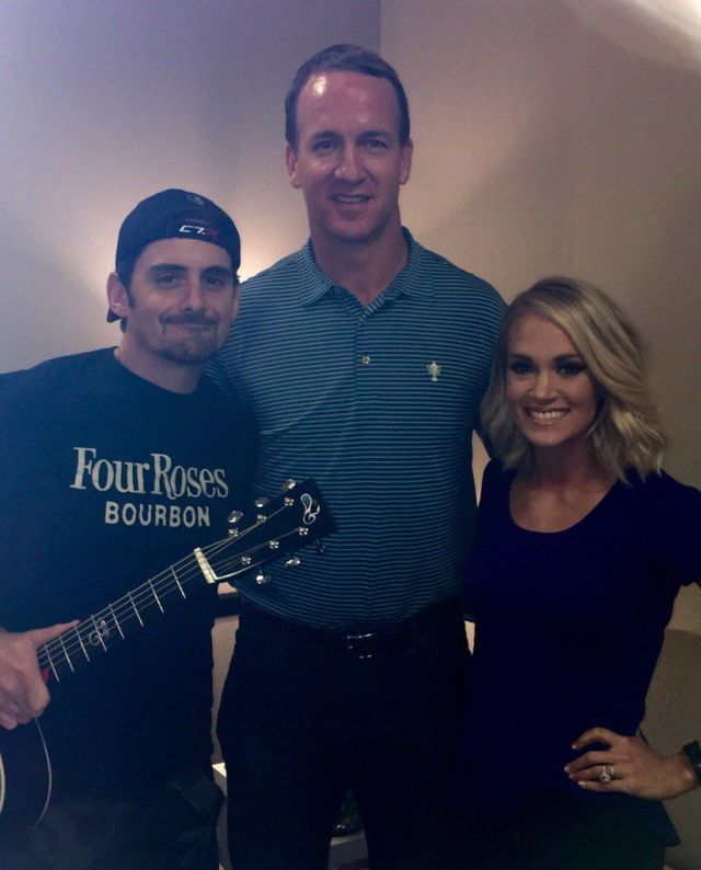 Brad Paisley, Peyton Manning, and Carrie Underwood