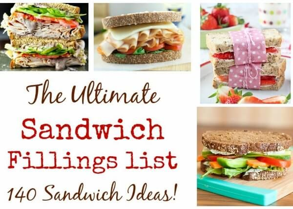 Looking for sandwich filling inspiration? Look no further, I've got over 140 delicious sandwich ideas and recipes for you - perfect for packed lunches!