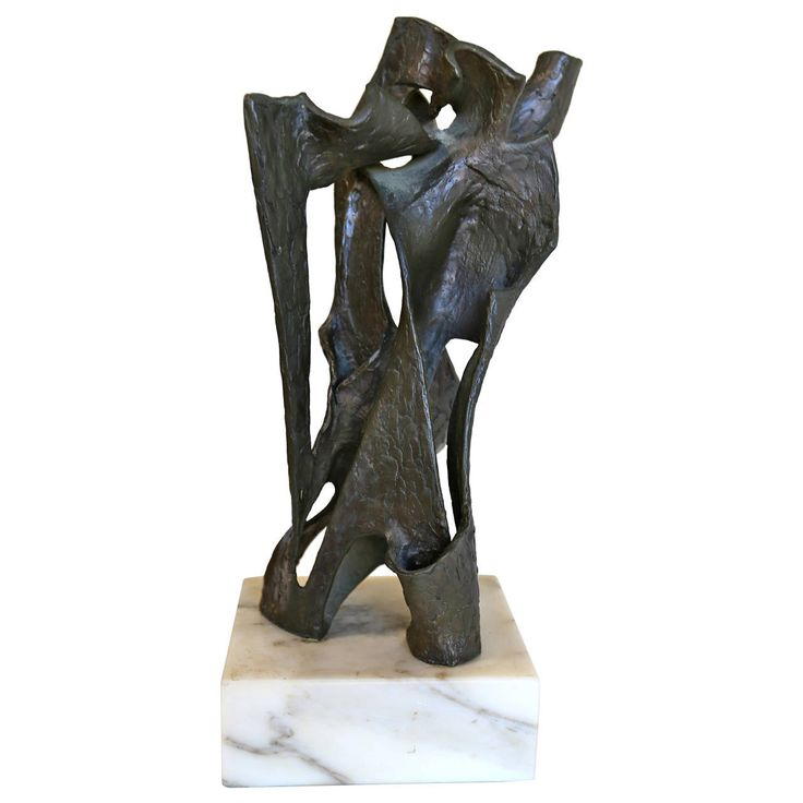 Brutalist Abstract Bronze Sculpture | From a unique collection of antique and modern sculptures at https://www.1stdibs.com/furniture/decorative-objects/sculptures/