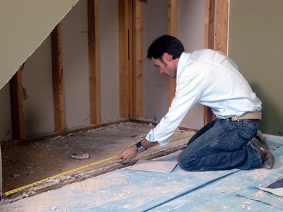 How to build a usable space under the stairs.