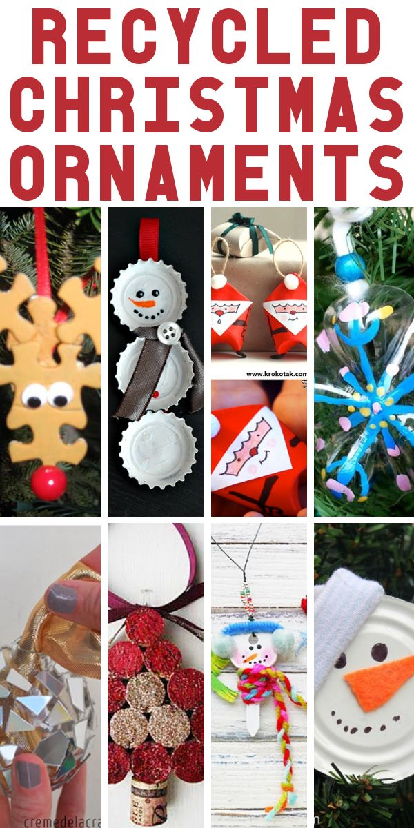 Get in the Christmas spirit this weekend by whipping up a few of these adorable and inexpensive ornaments made from items your may ...