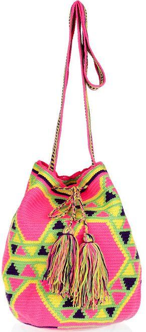 wayuu taya mochilla crossbody bag Wayuu Taya Knit Bags