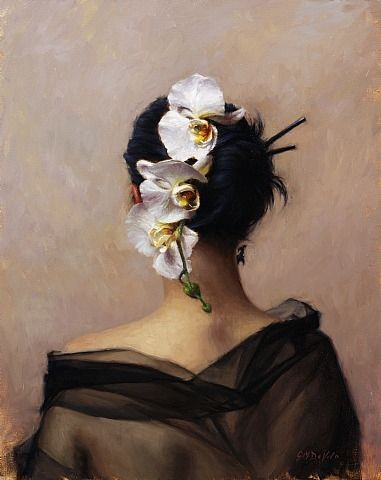"Grace Mehan DeVito (American, born 1965) ""Cascading Orchid"""