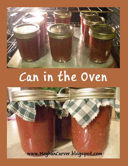 Forget the Boiling Water Bath ~ Can in the Oven but only use this technique for fruits & tomatoes like salsa and apple butter. It might not be safe for vegetables and meats. Those items really need to be processed properly in a pressure canner to preserve.