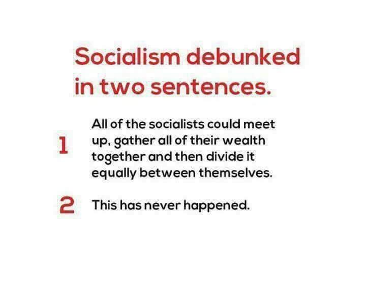 Socialism Debunked in Two Sentences