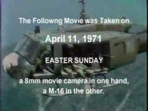Please subscribe. My personal movie taken with my 8mm camera during a combat air assault in Vietnam. A tribute to those who lost their lives the next day April 11, 1971. This is not a political statement, or is it intended to glorify war, it is a tribute to 11 brave men, including the Chaplain who gave their lives, doing their duty while se...