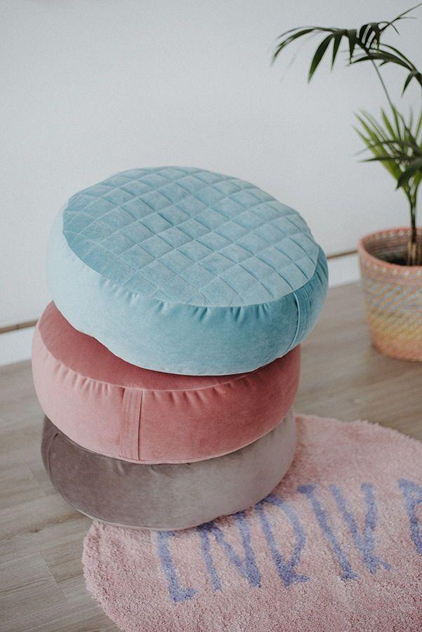 Peal Velvet R Round Bean Bag Chair Stylish Nursery Decor Bean