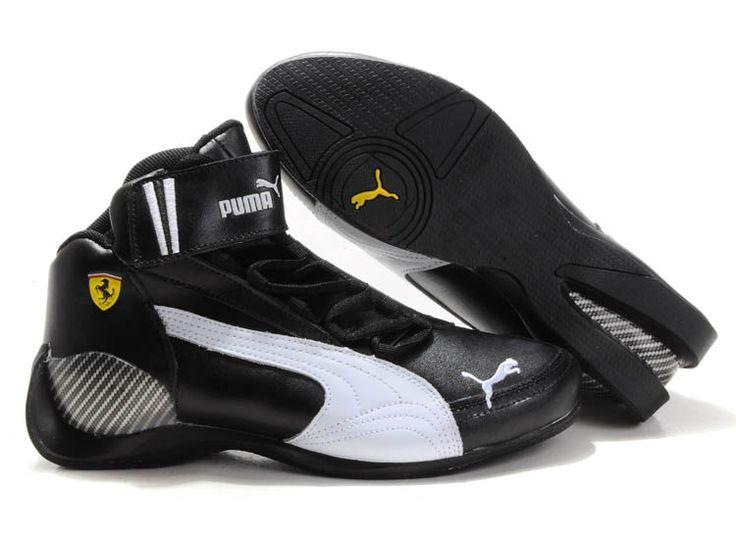 Puma Ferrari Shoes Four High-Top Black White