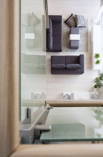 Korkea tila on hyvin huomioitu Lammi-Kivitalo Villa Elpidassa, lisää ideoita www.lammi-kivitalot.fi