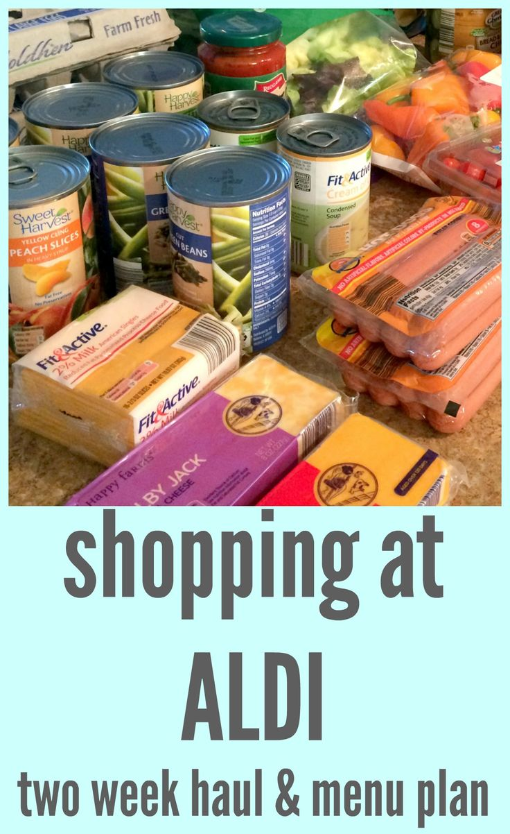 How to plan and shop for two weeks of meals at Aldi via ComeHomeForComfort.com