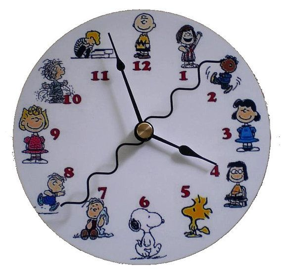 Cd Clock Peanuts Charlie Brown Lucy Snoopy by TheGolfingDolphin, $6.75
