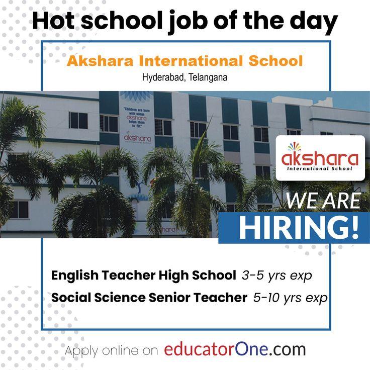 Teaching Jobs in Hyderabad in 2020 English teacher high