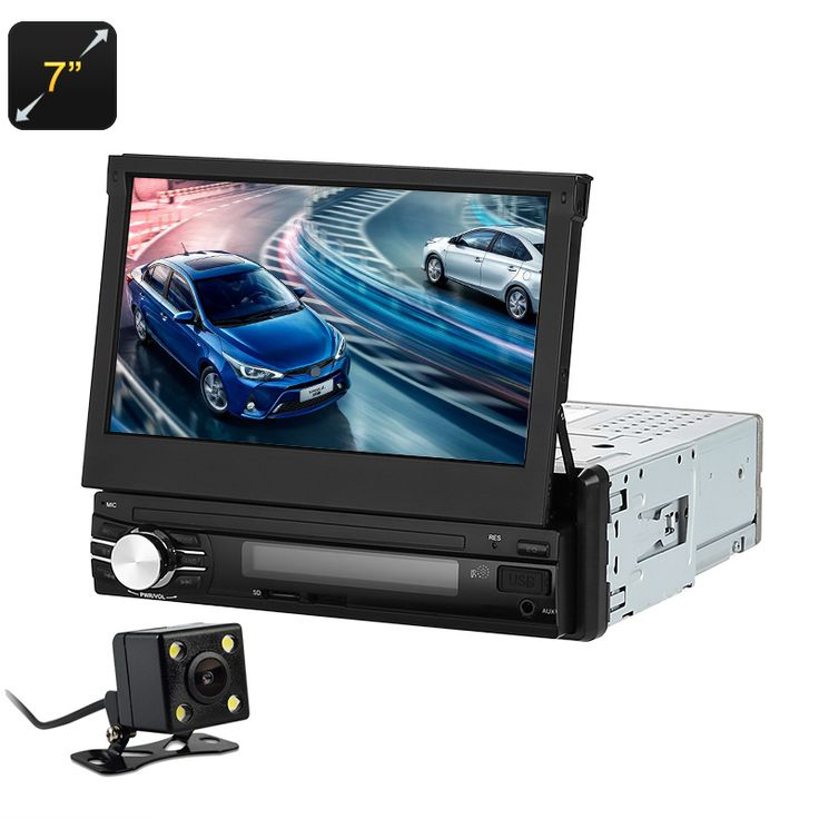 7 Inch Car Media Player - 1 DIN, Bluetooth, Hands Free, Rear Parking Camera, AM/FM Radio, USB, SD Card Slot - Enjoy your favorite music seamlessly in your car with the amazing 7 inch car media player.
