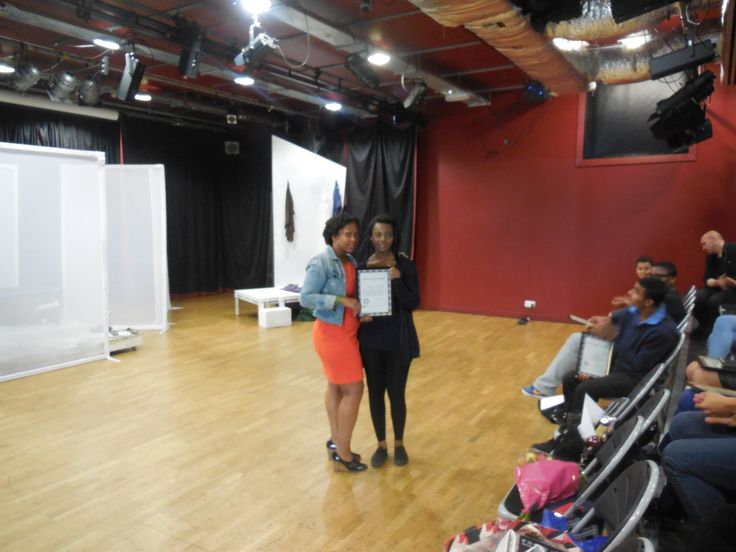Young Producers steering group (MAYP) - Director Suzann McLean gives Aminat her Y&T Certificate at the end of this amazing project.