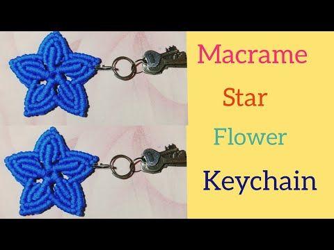 DIY Macrame Flower Star Keychain Tutorial