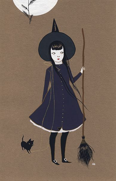 How adorable is this Halloween art? Forecast of Tendrils by Amy Earles                                                                                                                                                                                 More