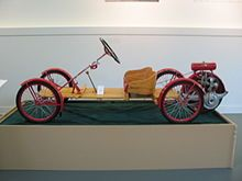 Briggs & Stratton Flyer (1915-1922). Cheapest car ever made: $125-$150. AKA the Red Bug.
