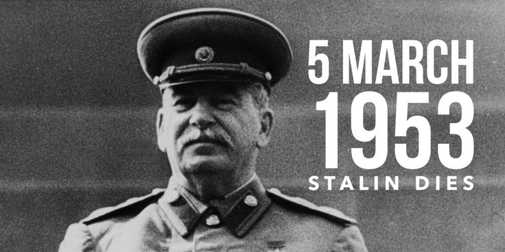 5 March 1953. Joseph Stalin dies
