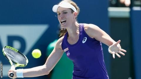 Bank of the West Classic: Johanna Konta into last eight in Stanford