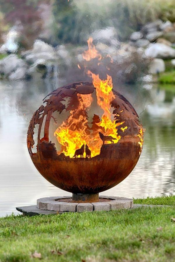 die besten 20+ feuerstelle pavillon ideen auf pinterest | outdoor ... - Feuerstelle Garten Naturstein