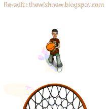 DP BBM Animasi Terbaru Versi Photoshop : Animasi BBM BasketBall,Gambar Gerak Bola Basket