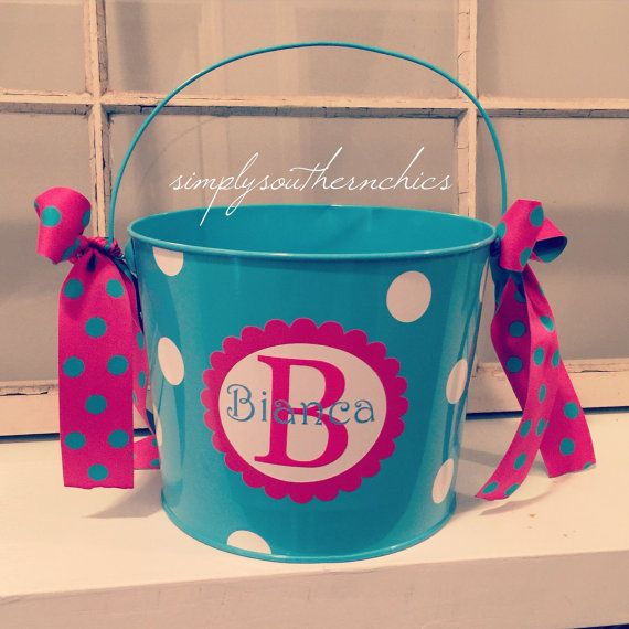 Personalized Easter Bucket  Personalized by SimplySouthernChics