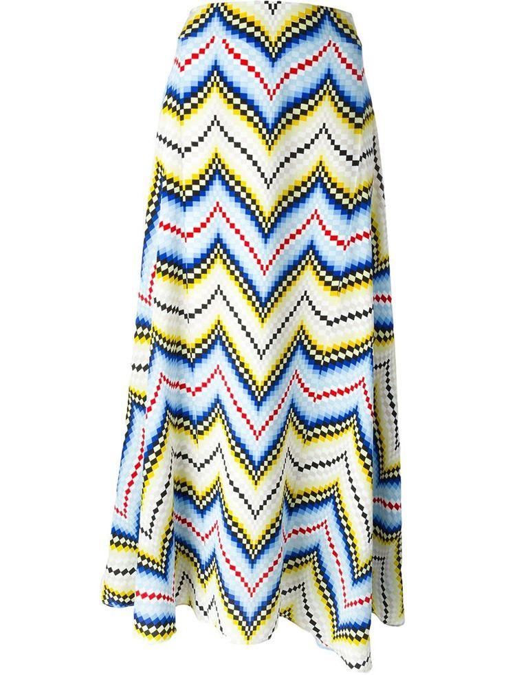 Kenzo chevron maxi skirt