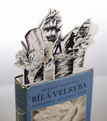 Moby Dick paper bookmark set